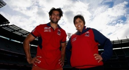 Bronwyn Davey has watched her younger brothers do it countless times, but she will be full of nerves when she runs onto the MCG for the first time. Bronwyn will wear the red and blue of the Melbourne Football Club against the Western Bulldogs in the first ever game of women's football between two AFL clubs.
