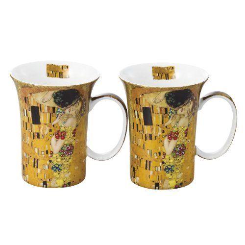 Klimt-style pair mug