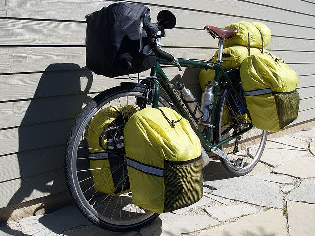 Homemade panniers with rain covers | Flickr - Photo Sharing!