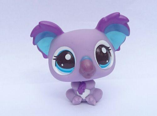 Figurine-Petshop-Koala-Violet-2501-Yeux-Bleus-LPS-Rare-Excellent-etat