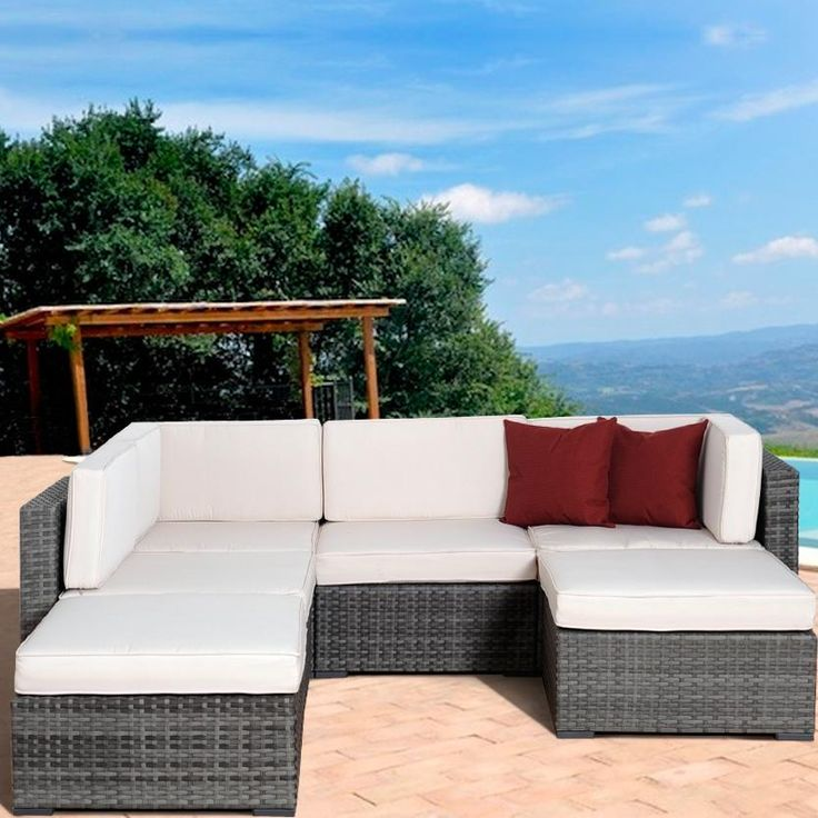 Atlantic Clermont 4 Person Resin Wicker Patio Sectional Set