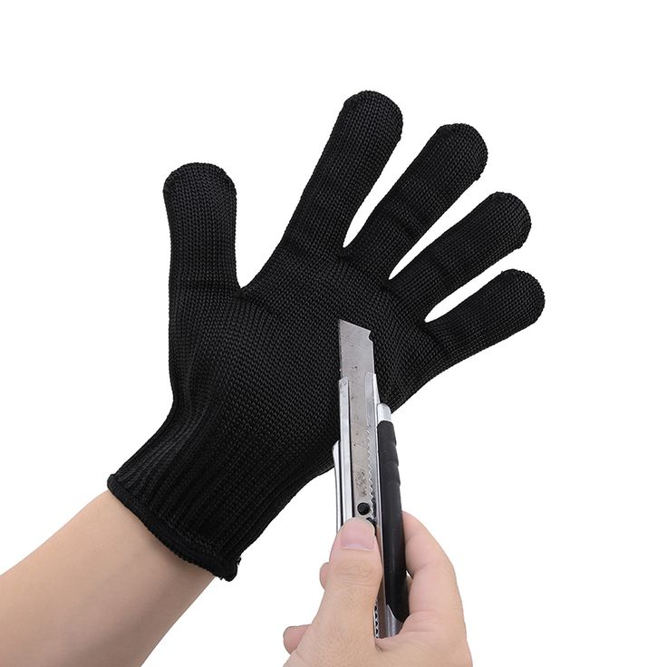 1 Pair Black Durable Cut Resistant Anti Abrasion Gloves Safety Gloves Working Protective Safety Gloves Wholesale