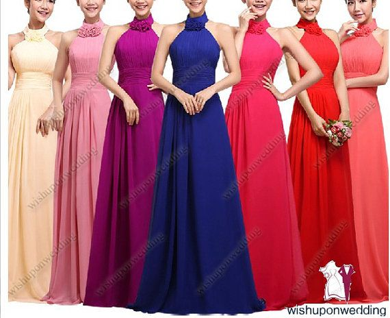 purple/coral/pink/blue/red bridesmaid dresses by wishuponwedding, $109.99
