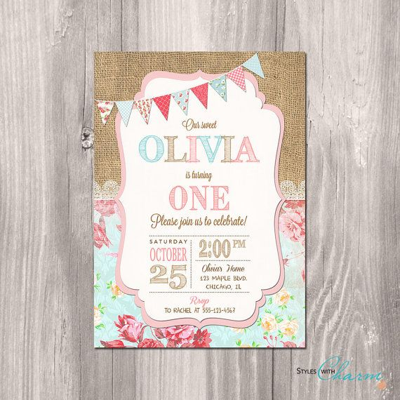 Hey, I found this really awesome Etsy listing at https://www.etsy.com/listing/208538626/shabby-chic-birthday-invitation-girl