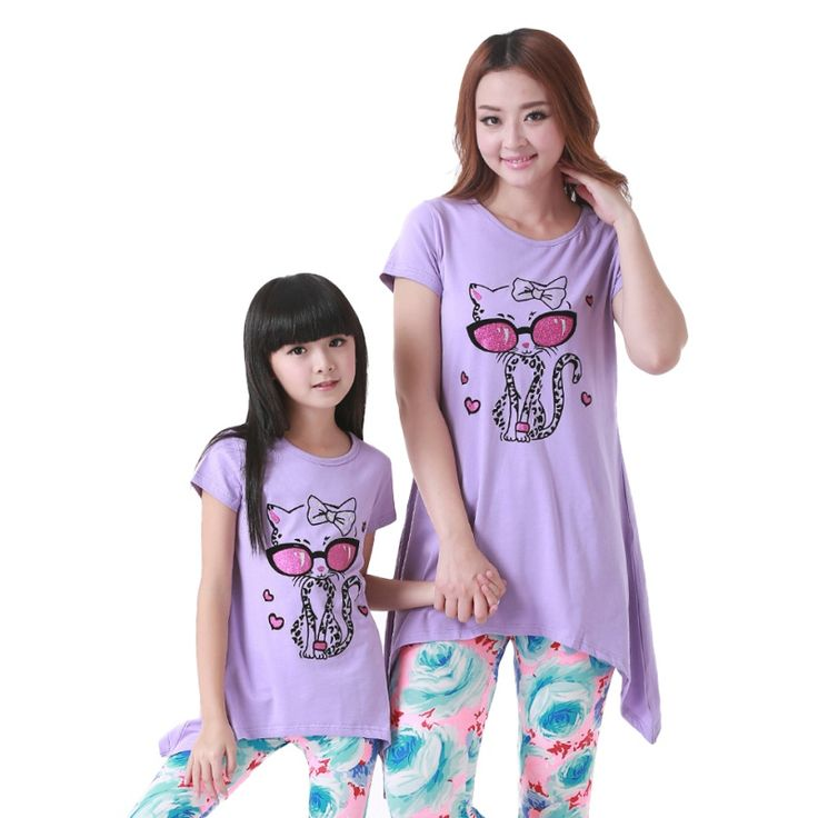 2017 family set clothes for mother and daughter Summer clothing sets parent-child family clothes