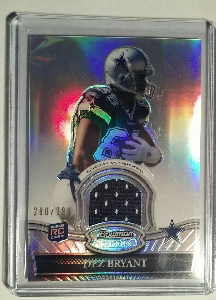 Dez Bryant 2010 Topps Bowman Sterling Rookie Refractor Patch