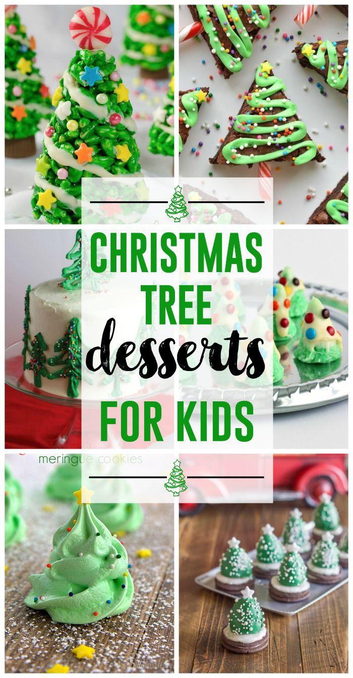 Christmas Tree Desserts for Kids | Christmas Themed Treats