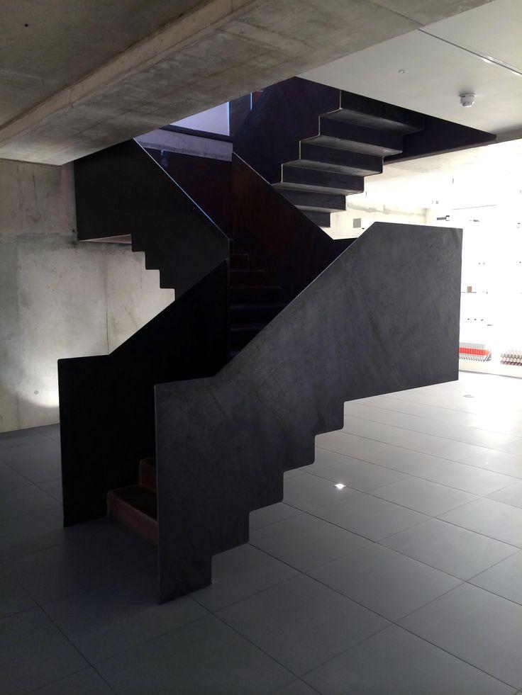 Blackened steel stair