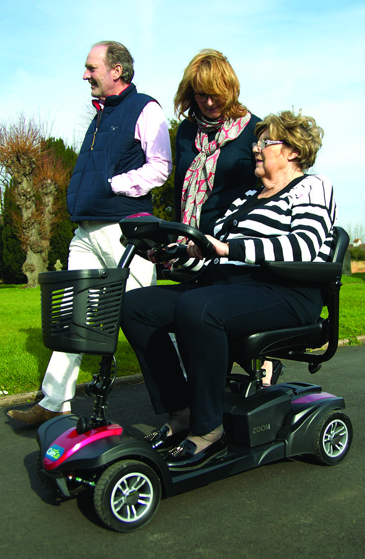 Excellent for nipping to the shops or visiting family the CareCo Zoom is a versatile and high quality travel mobility scooter. Breaks down into 5 parts making it easy to store or transport in the car.