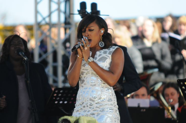 UK singer and X Factor winner Alexandra Burke opened the live broadcast with a breathtaking performance at Great North Passion, South Shields South Tyneside.