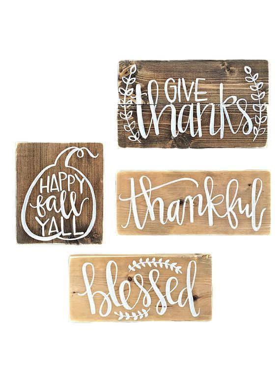 Apartminty Fresh Picks: Fall Favorites | Set of 4 Wooden Fall Signs | Love how