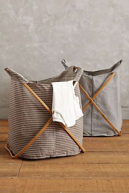 Large Cross-Fold Laundry Basket - anthropologie.com
