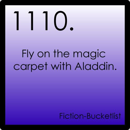 Fly on the magic carpet with Aladdin