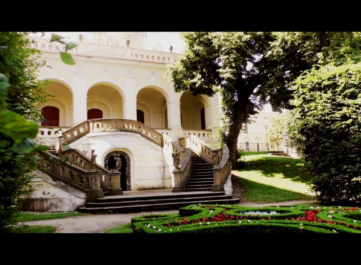 colonnade in Kroměříž