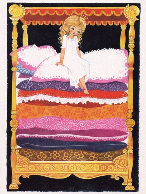 "The Princess and the Pea"" illustrated by Felicitas Kuhn"