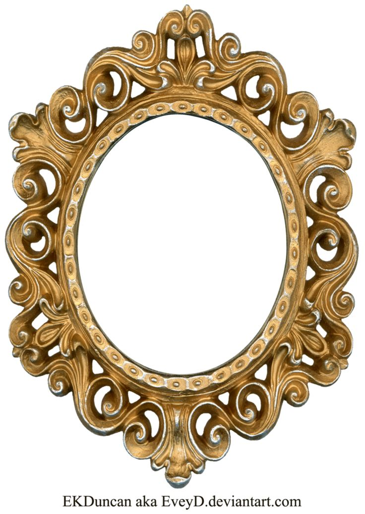 Vintage Gold and Silver Frame - Oval by EveyD on DeviantArt
