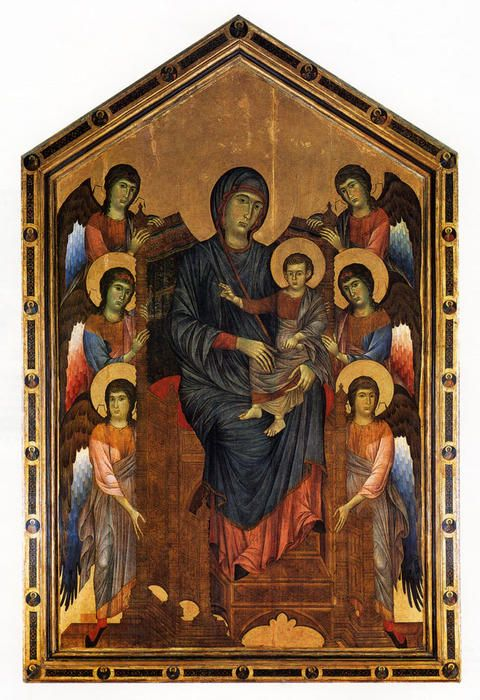 The Virgin and Child in Majesty surrounded by Six Angels