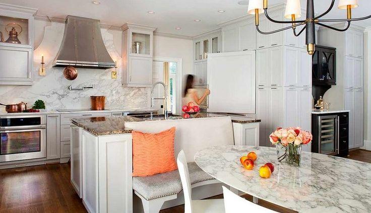 beyaz zarif açık mutfak dekorasyonu 2015