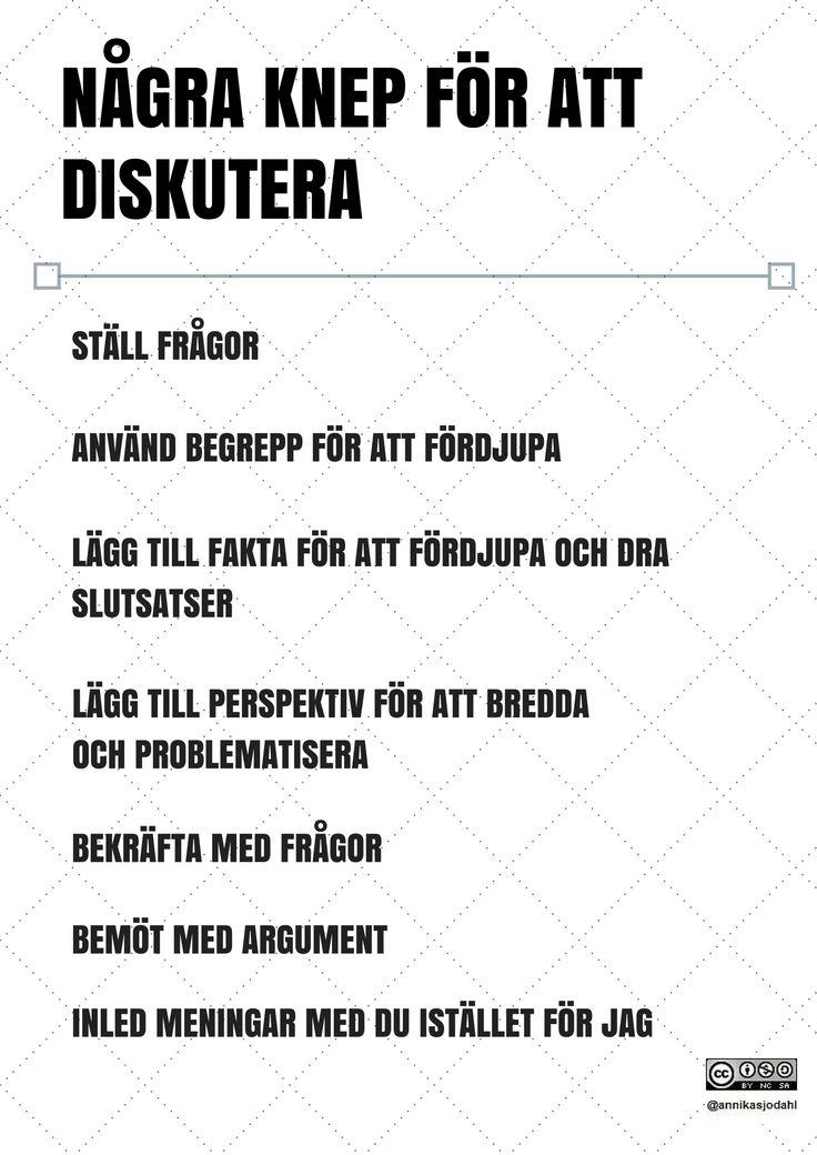 Några knep för att diskutera av Annika Sjödahl