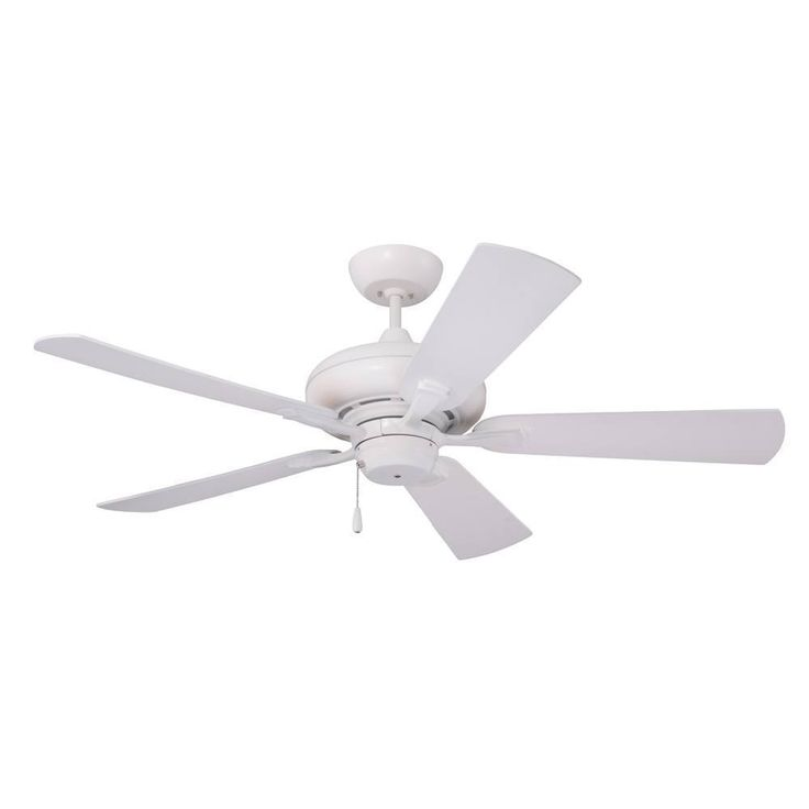 Emerson Monterey II 52-inch Satin White Transitional Ceiling Fan with Reversible Blades (Satin White) (Metal)