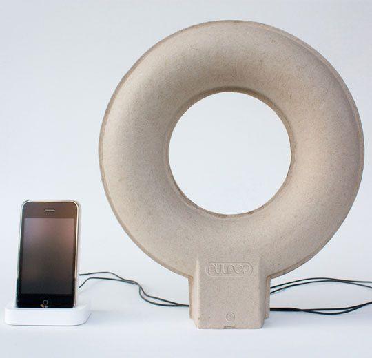 Pulpop recycled pulp paper speaker
