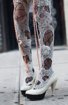 ::: OutsaPop Trashion ::: DIY fashion by Outi Pyy :::: Rodarte inspired thights
