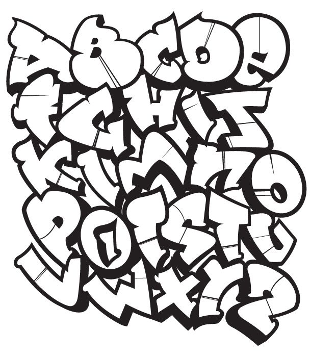 76 best graffiti alphabet images on pinterest types of - L alphabet en graffiti ...
