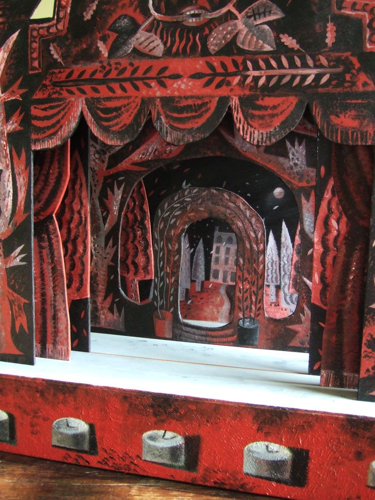 curtain up at the toy theatre | Clive Hicks-Jenkins' Artlog: