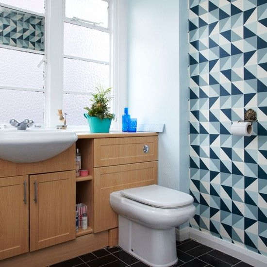 Retro patterned bathroom | Bathroom decorating | Style at Home | Housetohome.co.uk