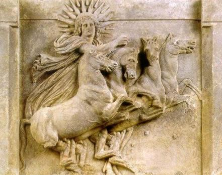 Relief Metop marble of Athena at Troy -  found the Doric Temple of Athena, about circa 400-370 BCE, at the Pergamon Museum, Berlin