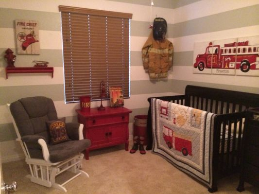 Firefighter nursery | Baby nursery