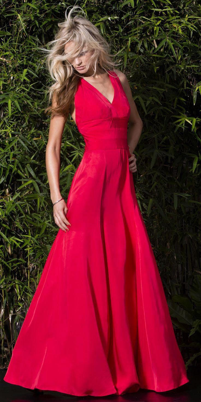 Tangerine Iconic Evening Dress on TROVEA.COM
