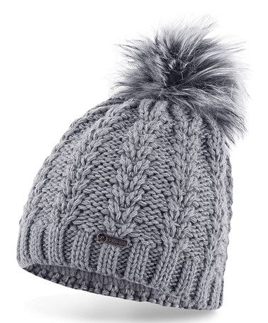 Another great find on #zulily! Gray Ribbed Pom-Pom Beanie #zulilyfinds