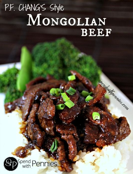 P.F. Chang's Style Mongolian Beef! Easy and Amazing! Love it? Pin it to SAVE it! Follow Spend With Pennies on Pinterest for more great recipes! I do not have a P.F. Chang's anywhere near me…. I know, very sad!! It is definitely one of my favorite places to visit! Whenever the craving hits, I just whip up a batch of Mongolian Beef… and let me tell you this is amazing! This recipe does make quite a bit of sauce so {Read More}