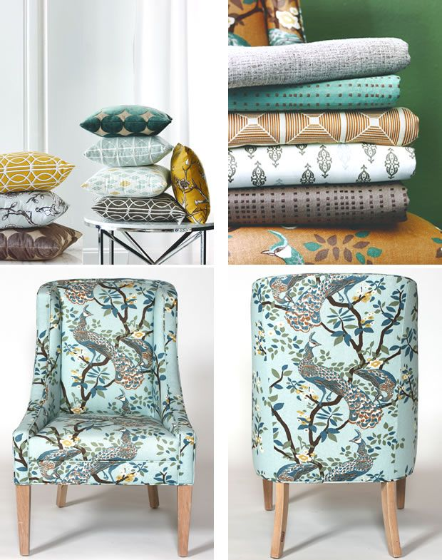 Vintage Plumes On A Chair Coordinating Fabrics Home Decor Pinterest Fabric And Calico Corners