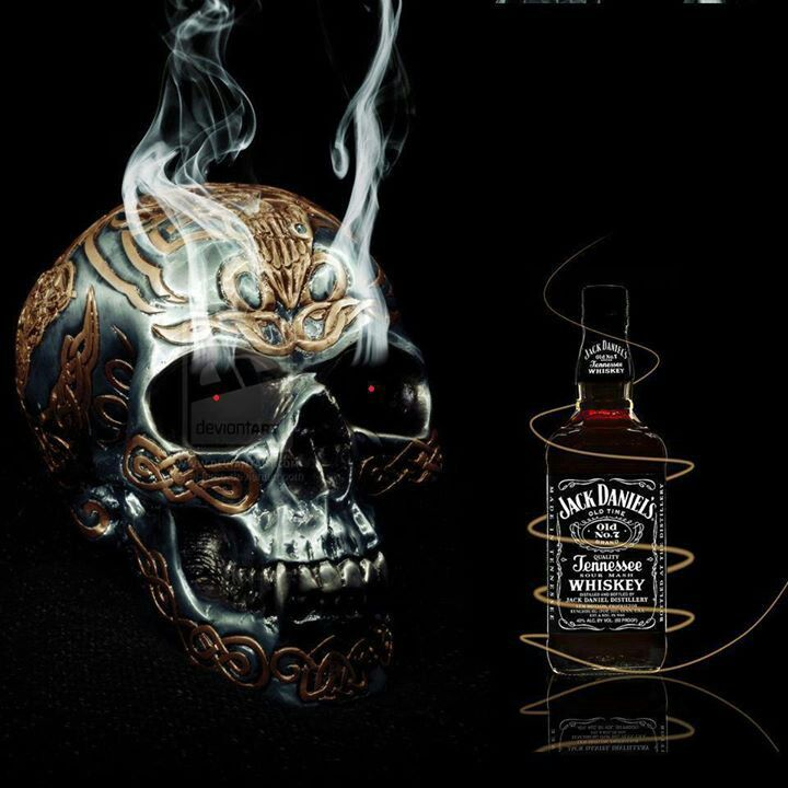 "Skull repping Jack Daniel  www.LiquorList.com  ""The Marketplace for Adults with Taste"" @LiquorListcom   #LiquorList"