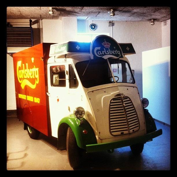 A vintage Carlsberg truck