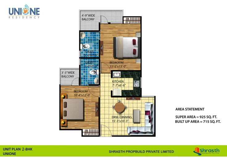 If you are looking for floor plan of Unione Residency Ghaziabad NH-24 then visit Futurefortune.co. There you see that 1/2 Bhk floor plan with size, price and specification.