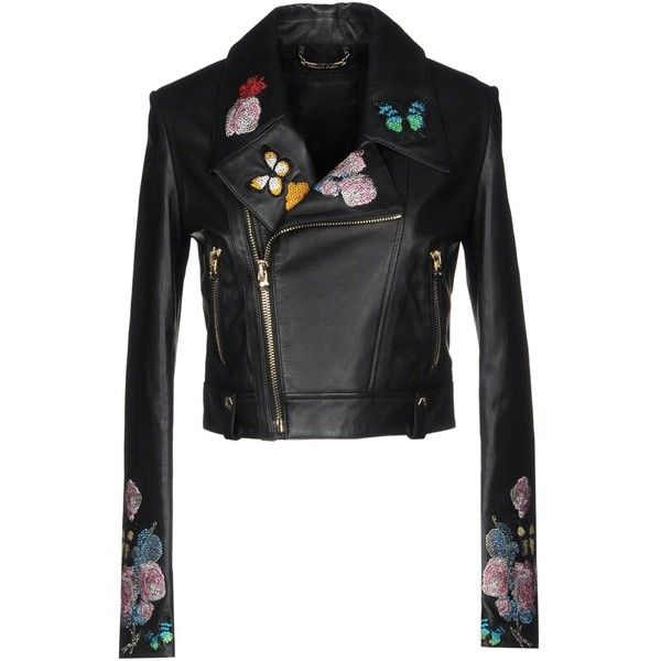 Philipp Plein Jacket ($2,555) ❤ liked on Polyvore featuring outerwear, jackets, black, zipper collar jacket, zip jacket, multi pocket jacket, lapel jacket and philipp plein