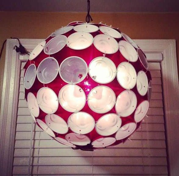 Red solo cup party lights! @Caitlin Miller remember our camping lights?!? I wish I could @Paula Grant!! :)