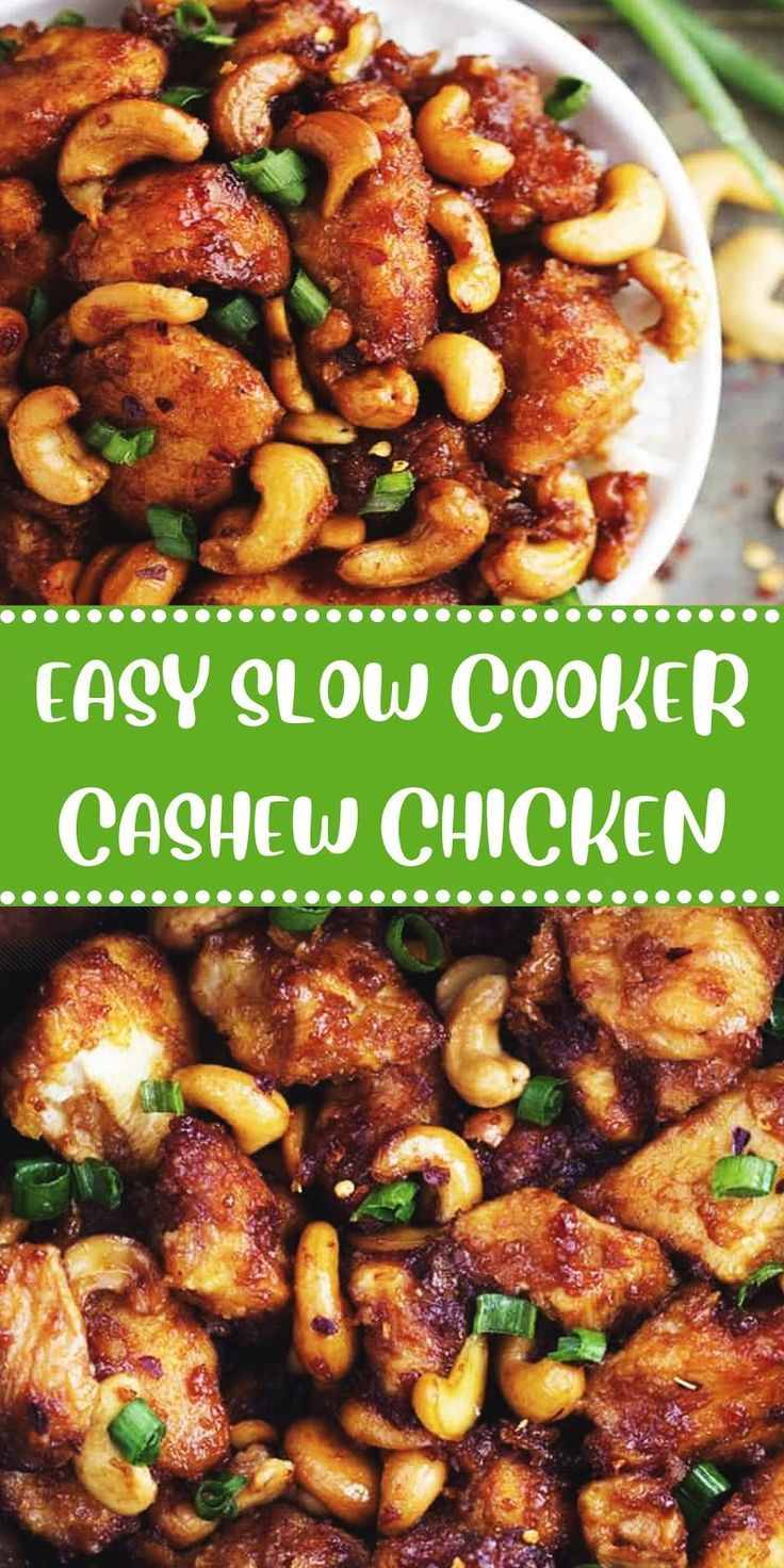 Easy Slow Cooker Cashew Chicken Slow Cooker Cashew Chicken Chicken Slow Cooker Recipes Easy Slow Cooker Recipes