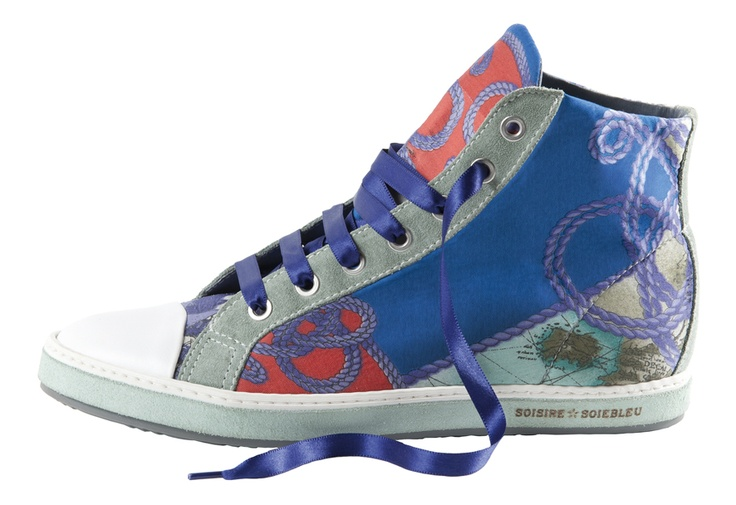 Vintage sneakers made from vintage scarves by Blackboard.it Copyright Blackboard. Posted by Permission. — in Milan, Italy.