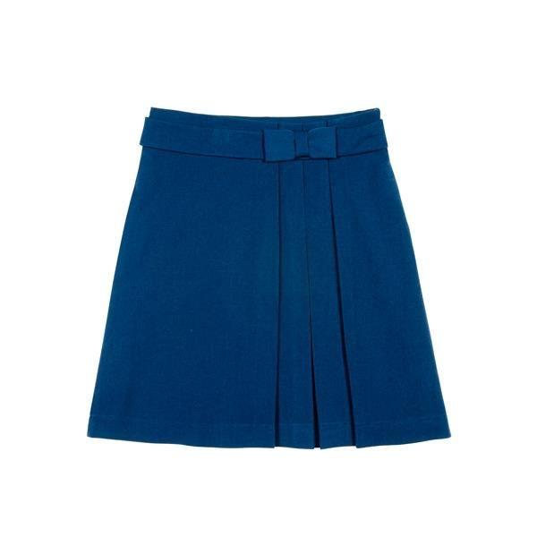 Голубая школьная юбка