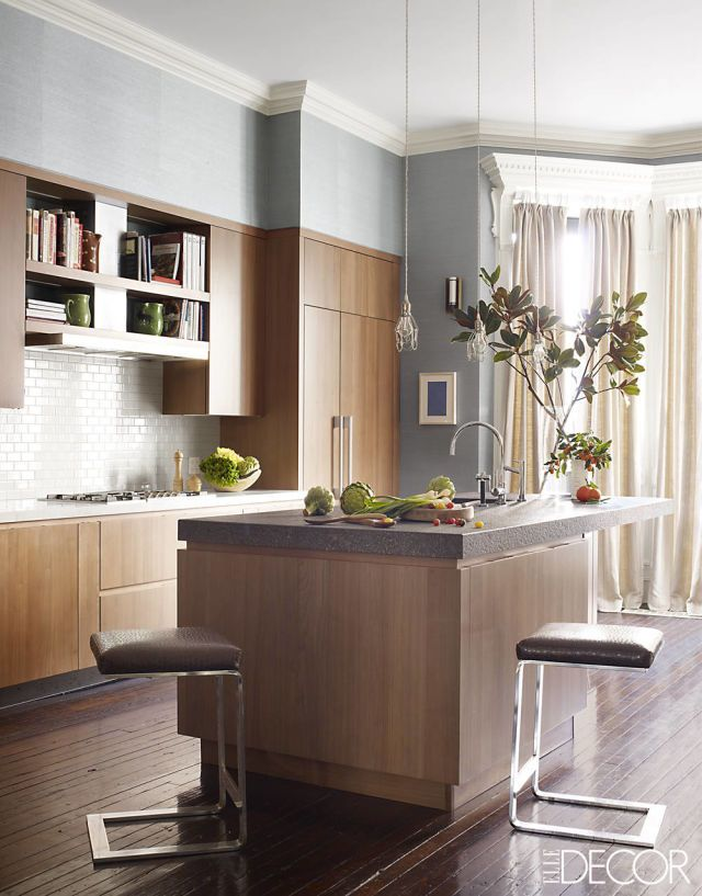 Dark woods like maple may be classic and austere, but the blonde woods that grew to popularity in 2014 are refreshing, making homes feel bigger, brighter, and far more welcoming.    - HouseBeautiful.com