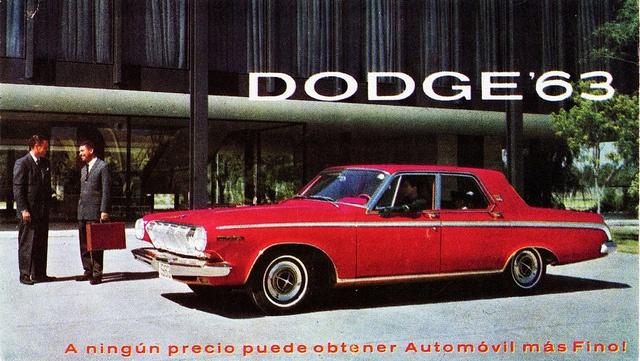 1963 Dodge 330 4-Door Sedan Postcard (Mexico) by aldenjewell, via Flickr