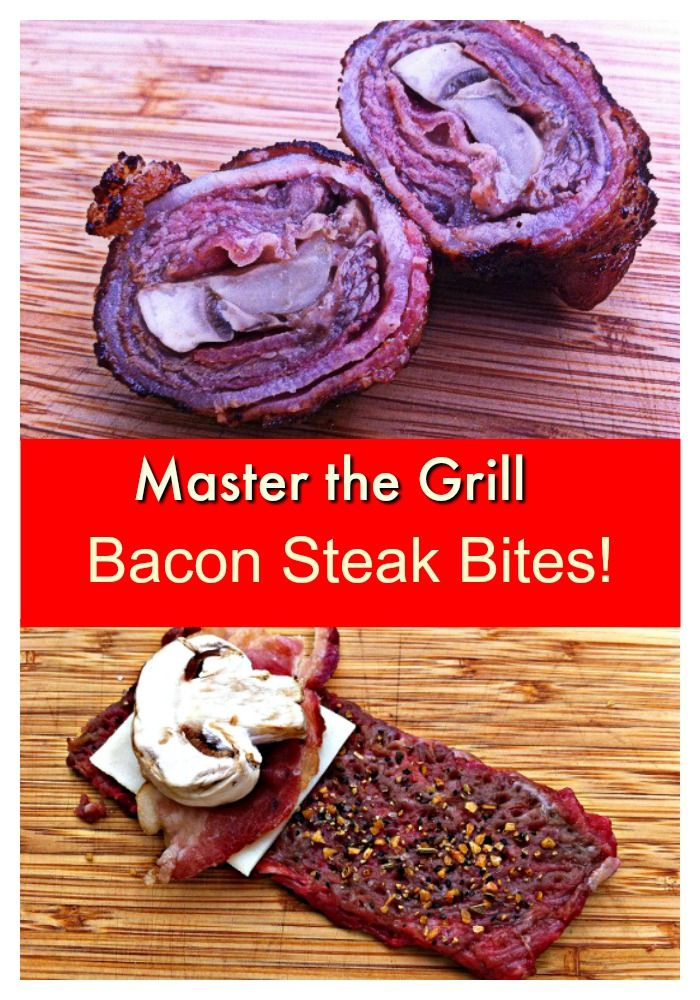 Take your Grill Skills to the next level with this simple but amazing recipe for Bacon Wrapped Steak Bites!