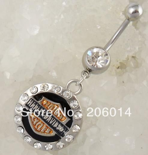 Monis Bows N More - Harley Davidson Belly Button Ring , $8.50 (http://www.monisbowsnmore.com/harley-davidson-belly-button-ring/)