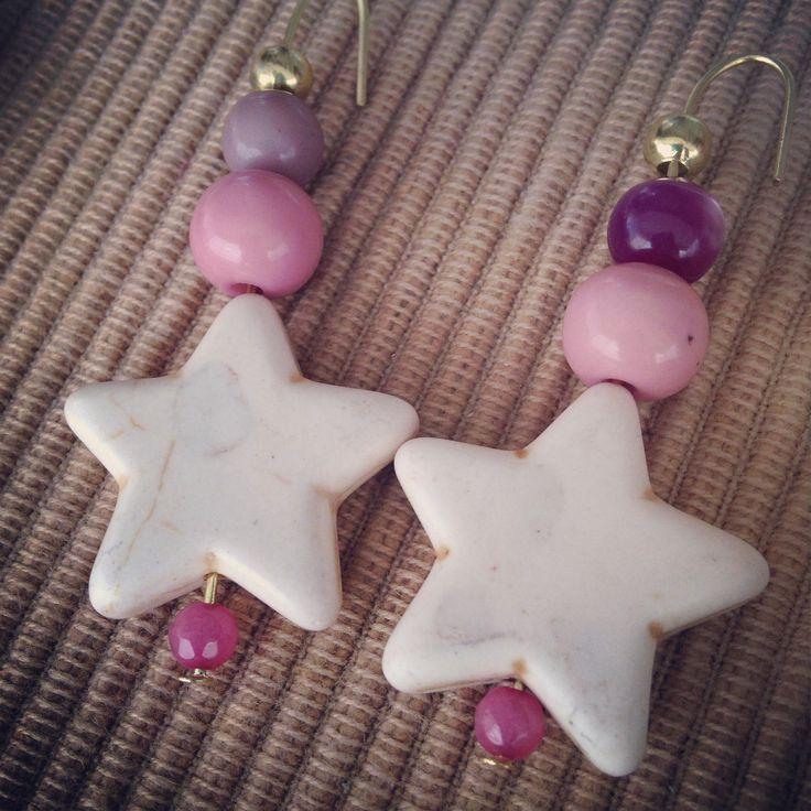 Star earrings / pendientes de estrella