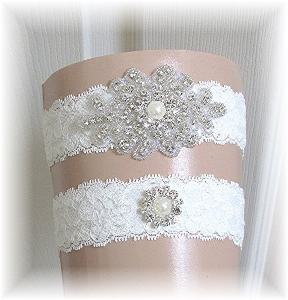 Ivory Lace Wedding Garter Set Bridal By SimplyWeddings 2495