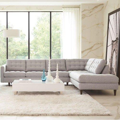 Small Sectional Sofa Contemporary sofa fabric leather by Antonio Citterio FRANK B uB Italia